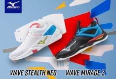 Image de l'article Mizuno dévoile la Wave Stealth Neo pour la sortie du pack MU-TE-KI